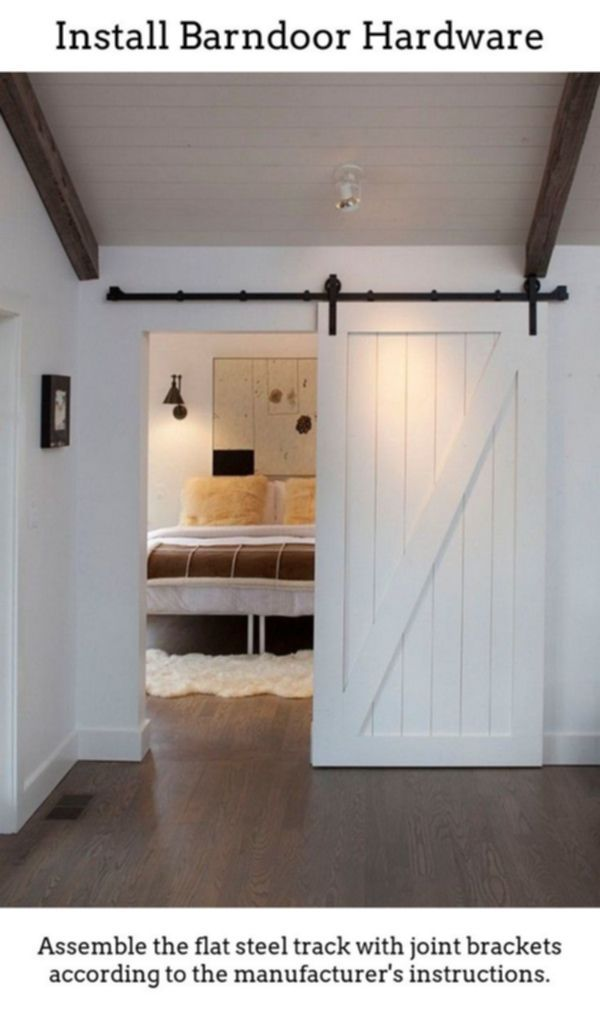 Barndoor Hardware Unearth Barn Door Gliding Door Combined With Flat Track Component Kits Which H Barn Doors Sliding Wood Doors Interior French Doors Interior