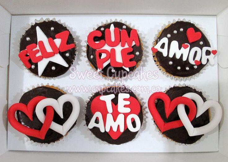 cup cakes amor - Buscar con Google