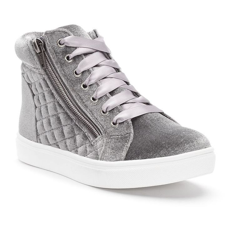 SO® Stacie Girls' High-Top Sneakers, Med Grey