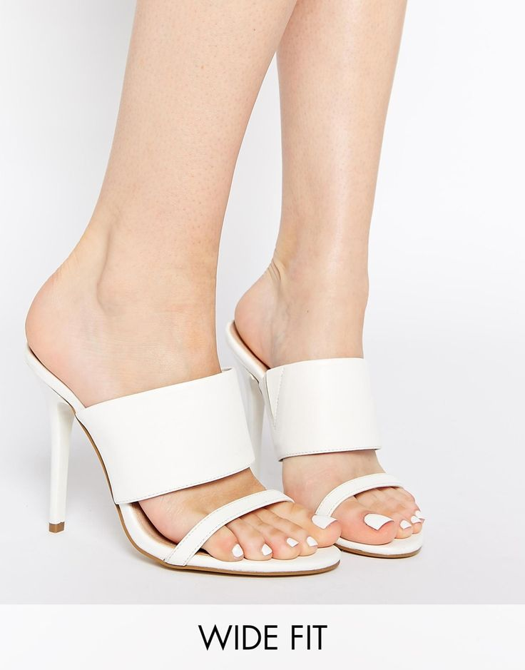Image 1 ofASOS HEREABOUTS Wide Fit Heeled Sandals