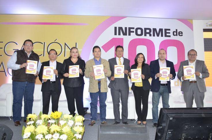 Carlos Estrada presentó su Informe de 100 Días  de Gobierno al frente de la Delegación Iztacalco