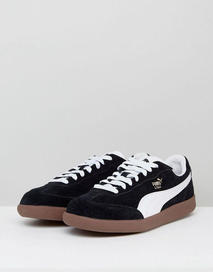 Puma Liga Suede Sneakers - Black