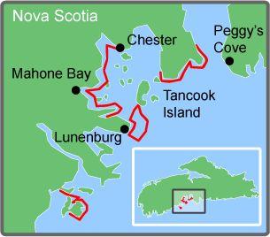 Best Hants County Nova Scotia Maps Gazetteer Images On - Us navy map mahone bay ns