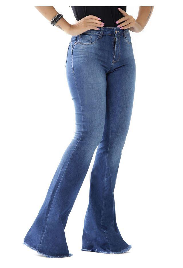 Calça Jeans Feminina Flare Pata de Elefante - 252968 - SawaryB2C ... 1dd2430467b