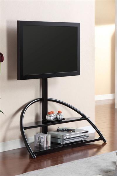 "48"" Fitz Black Glass TV Stand"