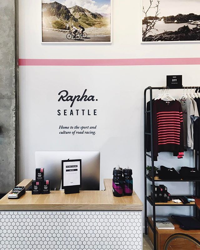 WEBSTA @ jakeszy - Finally made it by the new @rapha Cycle Club in Seattle! Can't wait to get back for a ride at some point. @therhys, @carmararda, @talltyler  I'll be back! Thanks for the 📸 @anelesew! ☕️#rapha_rcc #rccsea #rapha