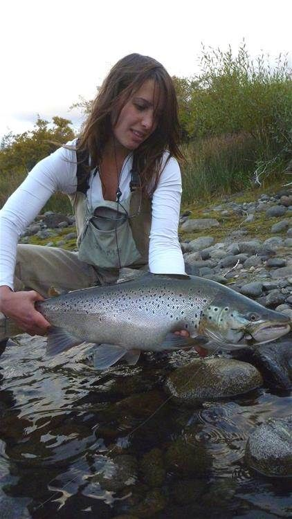 Pin by drowning worms on trout fishing pinterest image for Fly fishing girls