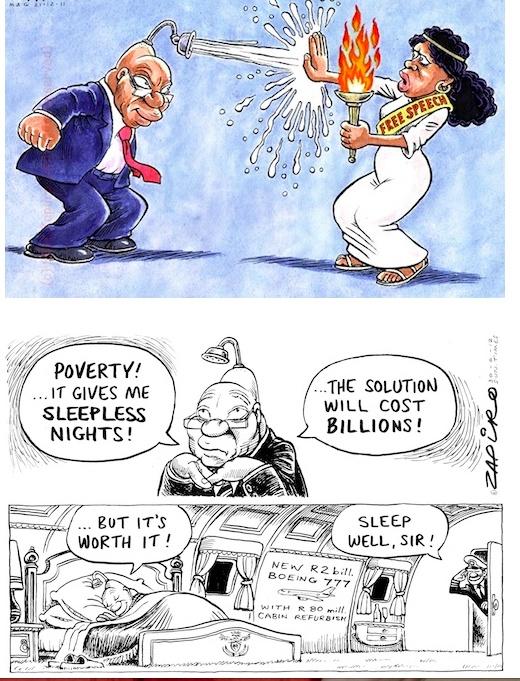 Zuma vs Zapiro, Hadbags at Dawn yet again!    History in cartoons!  http://cleonecassidy.blogspot.com/2012/07/zuma-zapiro-handbags-at-dawn-yet-again.html