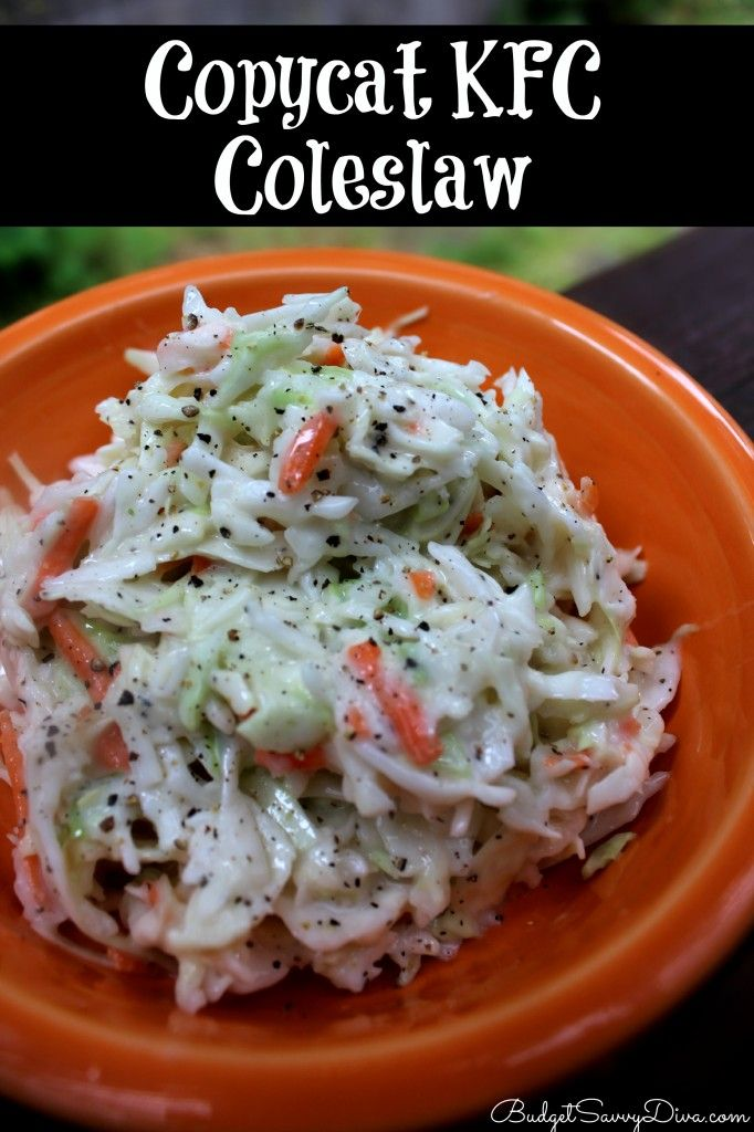 ... about Slaw on Pinterest | Kfc coleslaw, Gluten free and Coleslaw