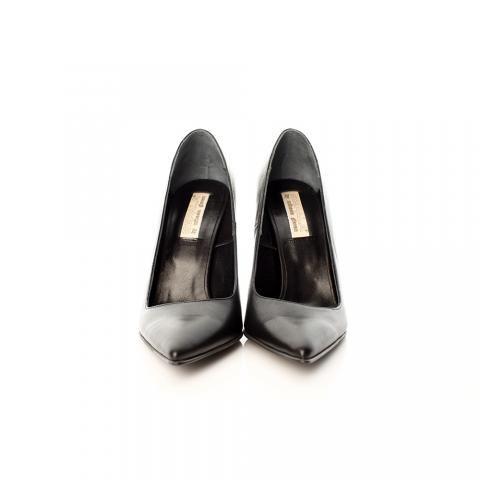 Pantofi stiletto piele neagra | The Boutique