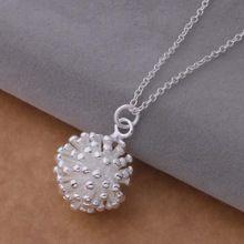 Collana in argento Placcato Bene Monili D'argento Sveglio Catene Collana Del Pendente Top Quality(China (Mainland))