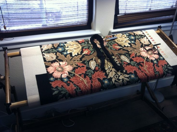 Andrew Winsett's Compton rug close to completion.
