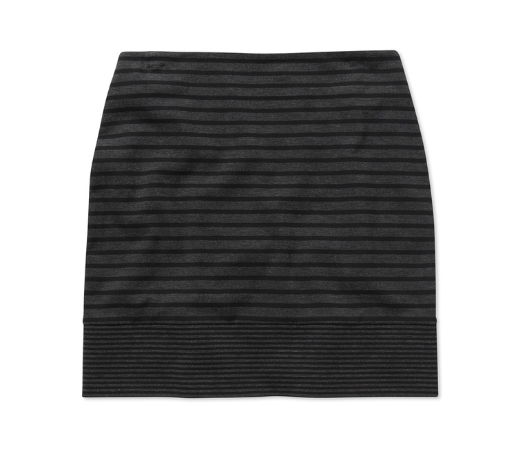 Mix Apparel - Ponte mixed stripe skirt