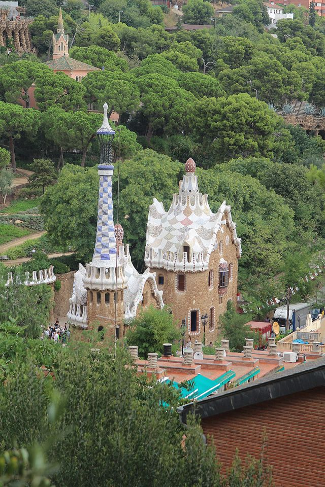 Barcelona Park Guell view from top2