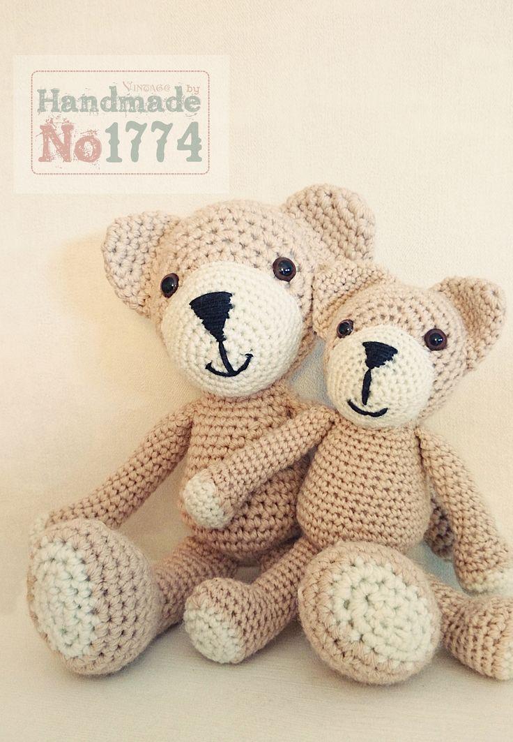 Teddy - Bär - Kuscheltier - Häkelfigut - gehäkelt - Crochet - crochet stuffed animal - Kind - Photoprops - Baby - Spielzeug - Handmade