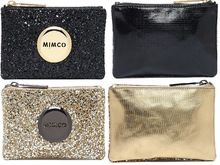 FREE SHIPPING Mimco TINY SPARKS POUCH  GOLD BLACK Women Wallet high quality leather RRP 49.9(China (Mainland))