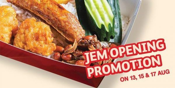 Lee Wee Brothers Singapore Jem Outlet Opening 1 For 1 Promotion 13 15 17 Aug 2019 Nasi Lemak Food Lunch