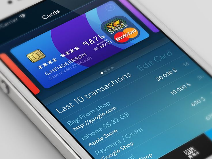 Card & Pay app cards statistic by Gleb Kuznetsov✈