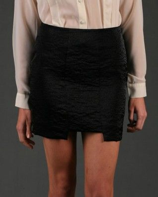 The Gorjess Closet Shine Into The Metallic Mini Skirt Black - Clothing - Birdmotel Online Store