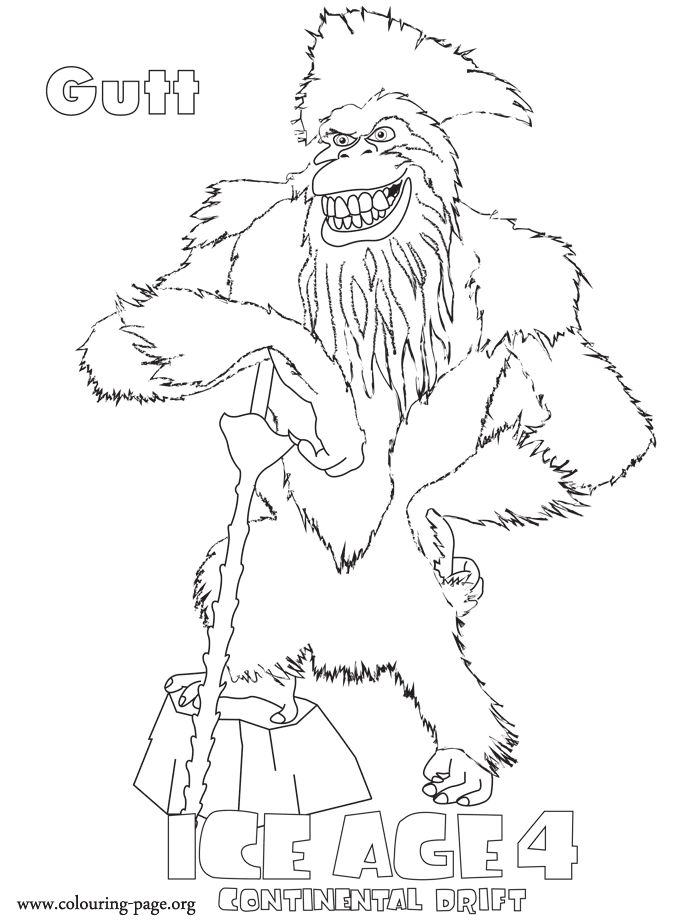 22 best Coloring Pages (Ice Age) images on Pinterest | Coloring ...