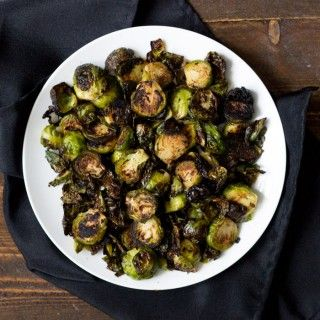 Crispy Miso Roasted Brussel Sprouts   – Skinny taste/healthy
