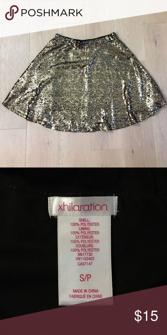 Gold sequin skirt Stretch waistband - Fun and flirty pop to any outfit! Xhilaration Skirts Mini