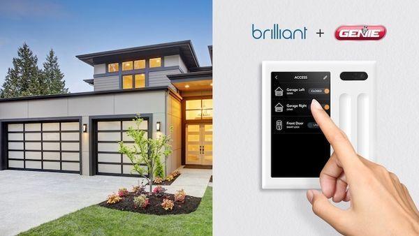 Brilliant Smart Controller Now Operates Garage Doors In 2020 Garage Doors Garage Door Installation Garage Service Door