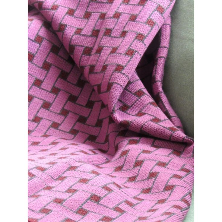 Basketweave - Throw - Pink - Grena - Sofa Blanket - Bed - Homewear