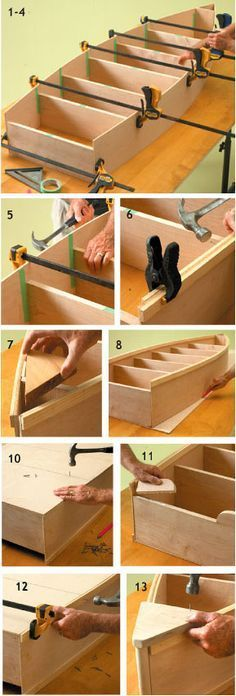 DIY Boat Bookcase - made out of maple stock, but you may wish to embark on your project using pine, birch or oak. Show off the beautiful wood grain, and chose a good conditioner, water-based wood stain and sealer for a finish rich in color and quality.