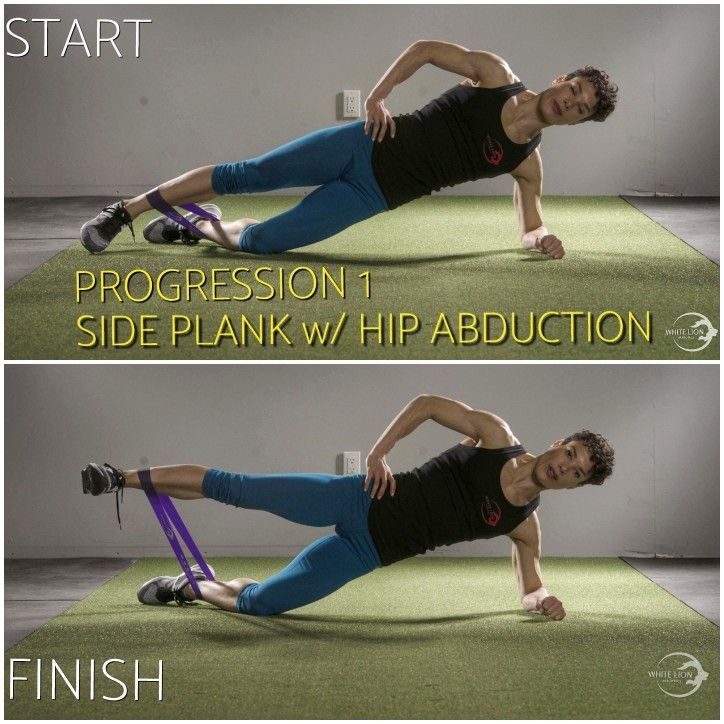 PROGRESSION #1  (KNEE/ELBOW): Side Plank with Hip Abduction