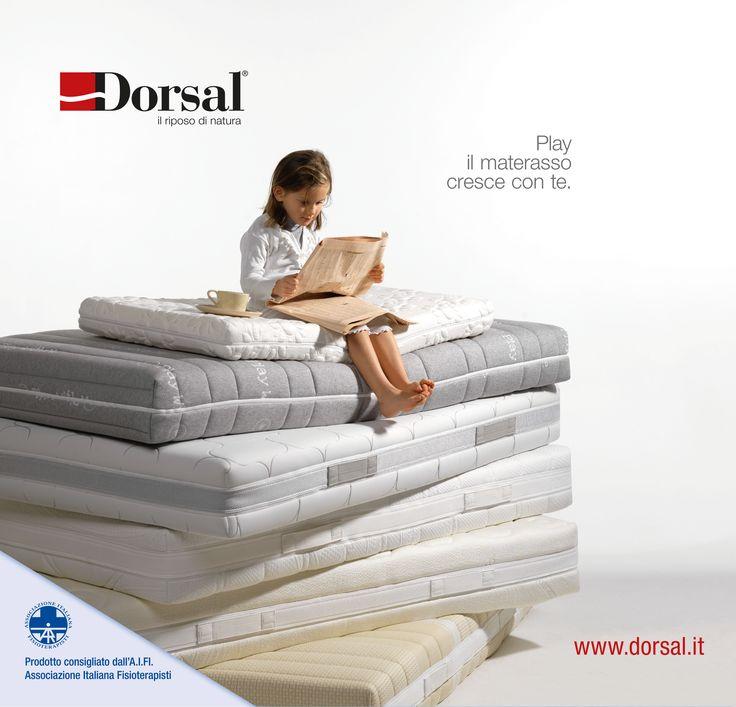 Play il materasso che cresce insieme al tuo bambino e assicura una corretta postura / www.dorsal.it
