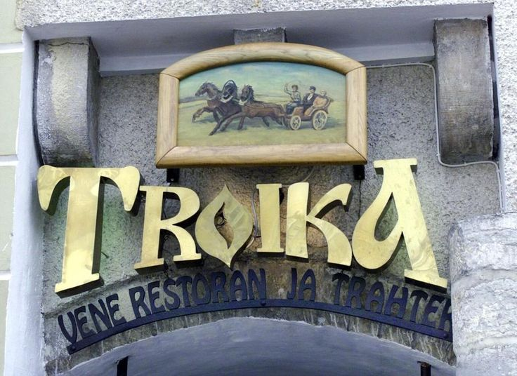 If you feel like having real Russian food, Troika is the place to be: Pickles, honey and sour cream, maybe borsch, not to mention authentic folk dance show. #eckeroline #eckeröline #tallinn #estonia www.eckeroline.fi