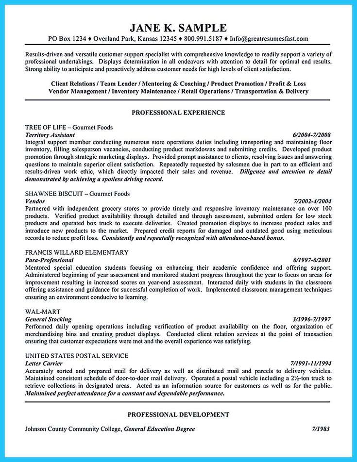 sample fac p pm resume