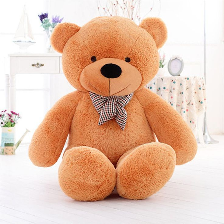"""Large Valentine's Teddy Bear 55"""" Big Plush Stuffed Gift For Her Brown Giant Cute #ValentineTeddyBear #ValentinesDay"""