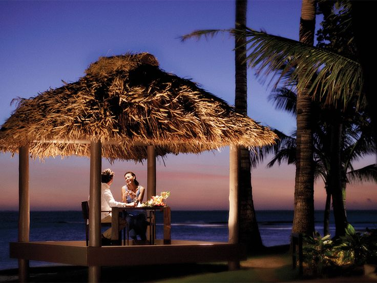 Intimate dining experience for romantic couples.  InterContinental Fiji Golf Resort & Spa  www.islandescapes.com.au