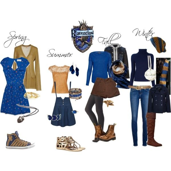 """Ravenclaw Inspired Outfit"" by shana-askew on Polyvore"