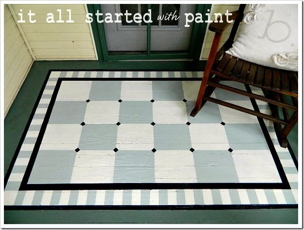 Painted Porch Rug. Fun idea for our sad front porch.