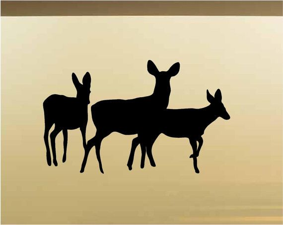 Deer Buck DoeFamily Hunting Wall Decals Vinyl By StickerChef Part 54