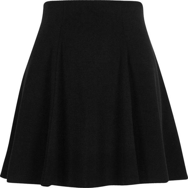 River Island Black flippy mini skirt ($36) ❤ liked on Polyvore featuring skirts, mini skirts, black, high waisted skater skirt, high-waist skirt, short mini skirts, short skirts and flip skirt