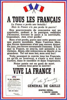 """La deuxième guerre mondiale en Première - L'appel du général de Gaulle """"À tous les Français"""" d'août 1940 - Commentaire corrigé par Jean-Pierre Husson"""