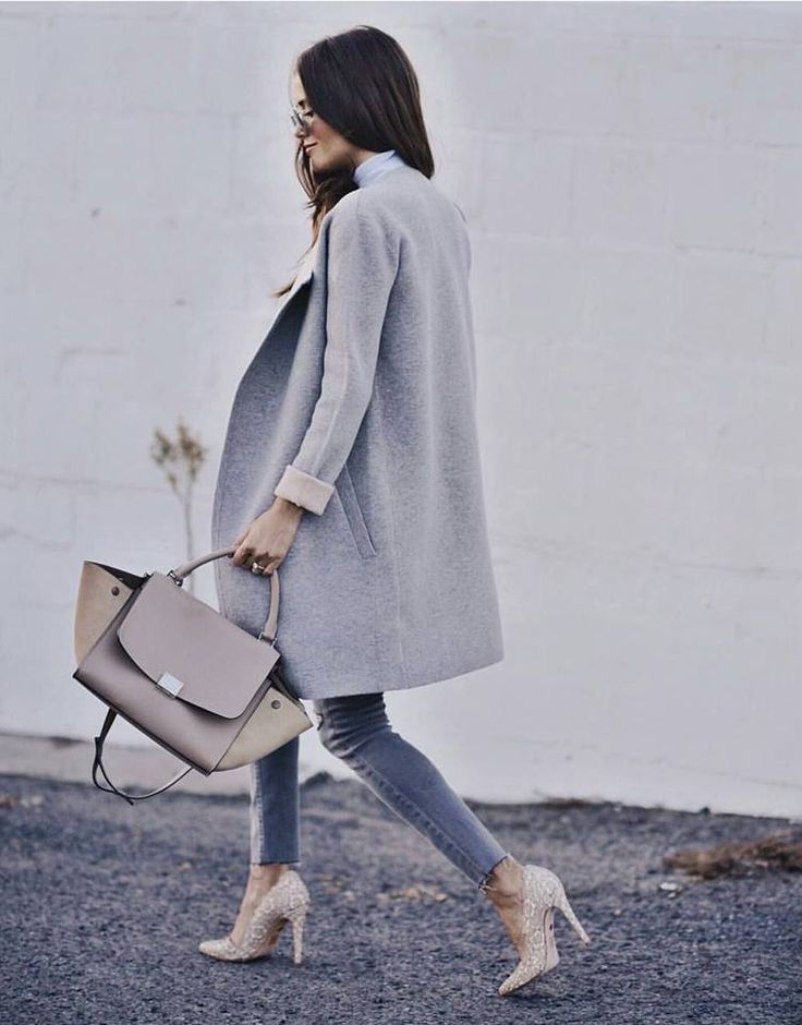 Grey Outfit - Streetstyle - CELINE TRAPEZE