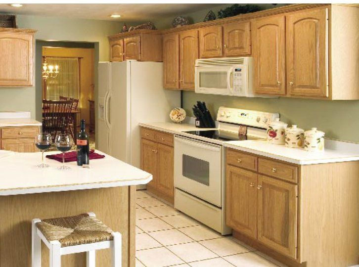 Kitchen Colors With Light Oak Cabinets Pale Green Kitchen Wall With Light Oak Cabinets