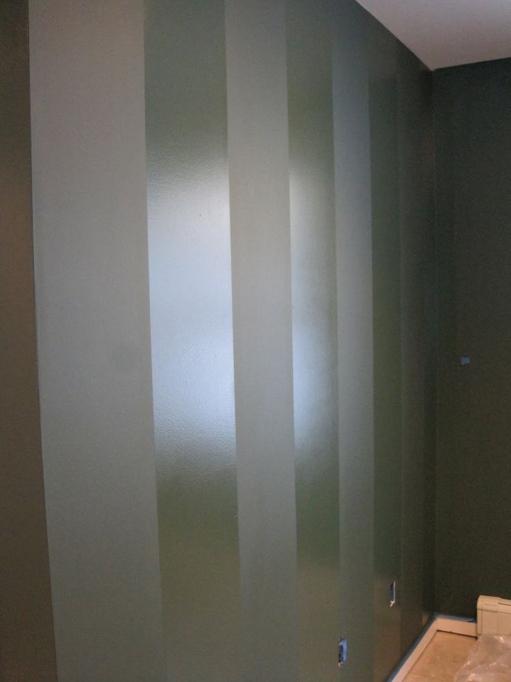 Paint a wall in flat paint then paint stripes in same - Exterior paint flat or semi gloss ...