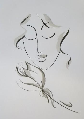 """""""Flower of silence"""" #Creative #Art in #sketching @Touchtalent"""