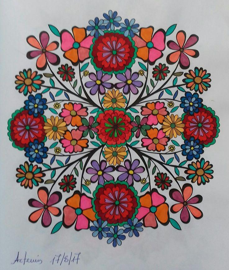 Week 66, 17082017, Flower design vol. 1 by Jenean Morrison coloured by Artemis Anapnioti.