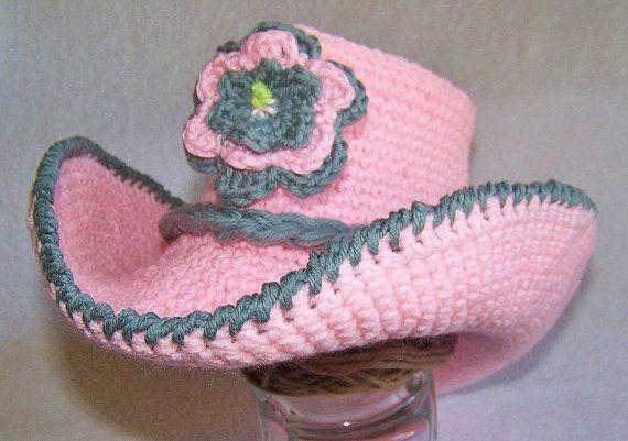 Cowboy Hat - Baby Cowboy Hat - Baby Photo Prop - Cowgirl hat - baby cowboy hat - Baby cowgirl hat - cowgirl hat - crochet cowgirl hat