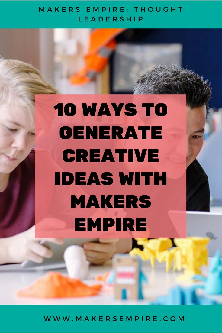 3D design is the perfect place for students to bring their ideas to life, to create prototypes and to test out new ways of making things. Here are 10 of our favorite strategies for generating new ideas! Makers Empire helps K-8 schools harness the power of 3D printing to teach important STEM concepts, 21st century learning skills and design thinking in a fun and engaging way. Book a demo today www.makersempire.com