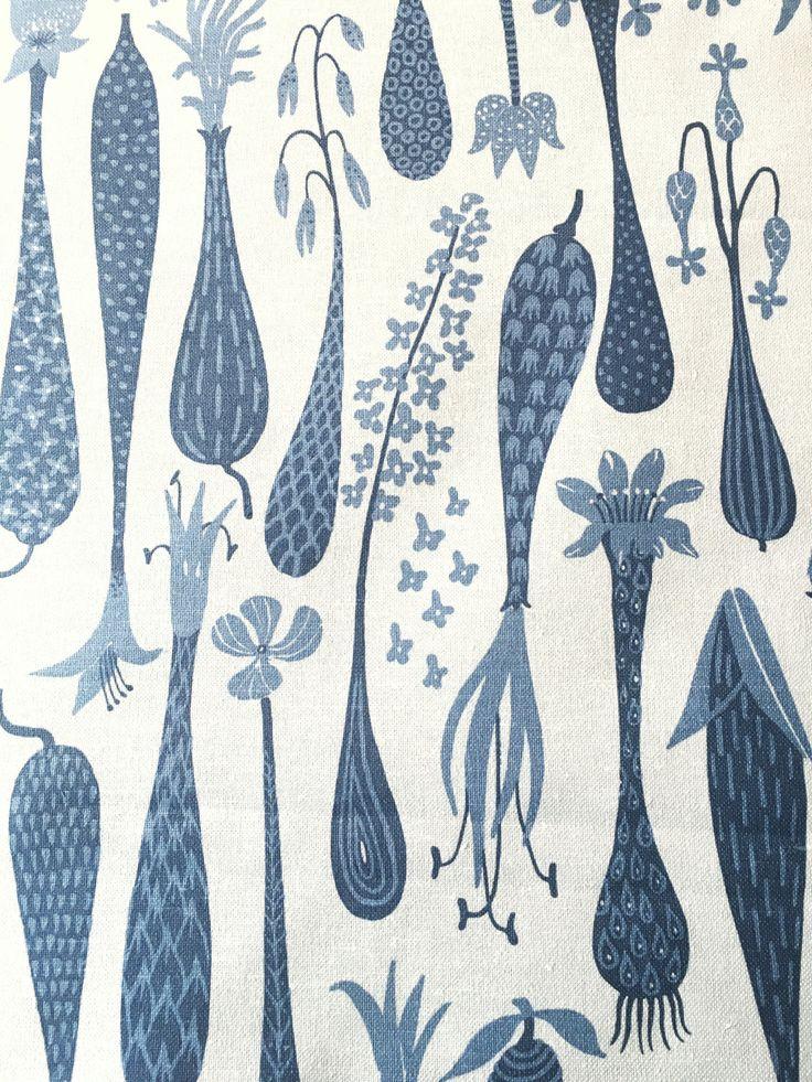 "Scandinavian vintage fabric ""Printemps"" by Stig Lindberg"