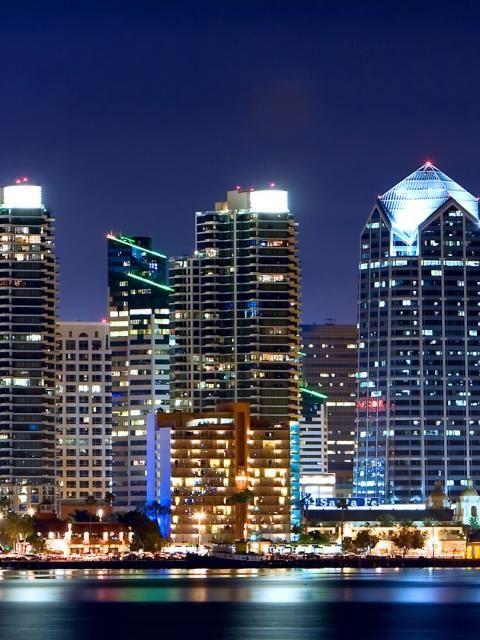 San Diego, California - Skyline