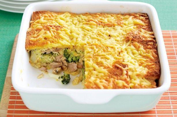 Tuna and broccoli bread bake -one pan dinner